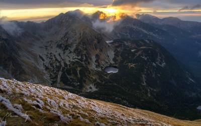 zachód słońca z wołowca